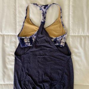 Lululemon Tie Dye hot yoga tank w sports bra